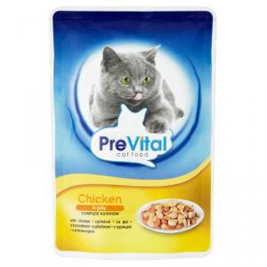 PreVital alutasakos macskaeledel 100 g csirkével zselében