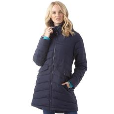 Trespass női kabát - Trespass Womens Homely Padded Hooded Long Jacket - sötétkék