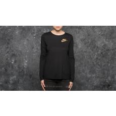 Nike Sportswear Essential Metallic Longsleeve Top Black