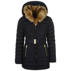 Golddigga női kabát - Golddigga Belted Bubble Jacket - sötétkék