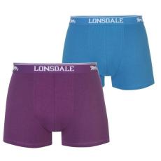 Lonsdale férfi boxeralsó 2db/csomag, Lila/Kék - Lonsdale 2 Pack Trunk Mens