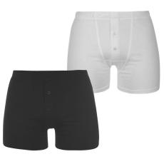 Slazenger férfi boxer, 2 db/csomag, Fekete/Fehér - Slazenger 2 Pack Boxers Mens