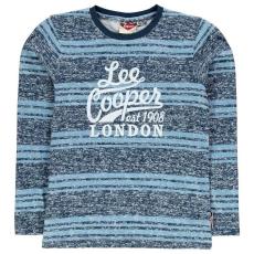 Lee Cooper gyerek hosszú ujjú felső - kék csíkos - Lee Cooper Boys Long Sleeve Tshirt
