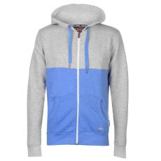 Lee Cooper Colour Block férfi kapucnis cipzáras pulóver kék XXL