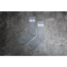 STUSSY Jacquard Logo Socks Grey Heather