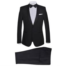 vidaXL 2 db Black Tie Tuxedo férfi szmoking méret 48 fekete