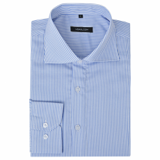 vidaXL Csíkos fehér és kék L méretű üzleti férfi ing