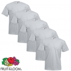 Fruit of the Loom 5 db Value Weight nagyméretű szürke póló 4XL
