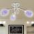 vidaXL Mennyezeti Lámpa Lila Akril Kristály Búrával 3 G9-es izzóval