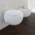 vidaXL Fali WC és Bidé Készlet Fehér Kerámia