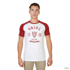 Oxford University férfi Póló ORIEL-RAGLAN-mm-RED