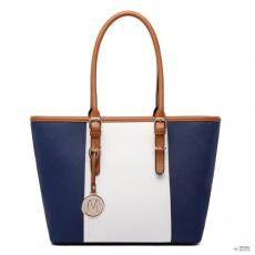 Gant Miss Lulu London E1661-Miss Lulu Center csíkos Medium bevásárló táska állítható fogantyú táska Navy