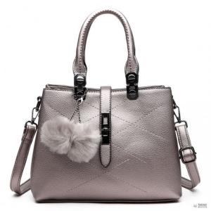 Miss Lulu London E1751 - Miss Lulu több rekesz Pom Pom válltáska táska ezüst
