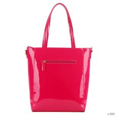 Miss Lulu London L1439 - Miss Lulu PVC Bow válltáska bevásárló táska táska Plum