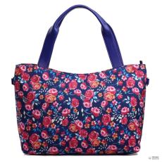 Miss Lulu London L1515NF - Miss Lulu stílusos Flower bevásárló táska táska Navy