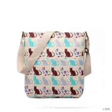 Miss Lulu London LC1644CT - Miss Lulu Regularmattte Oilcloth szögletes táska Cat