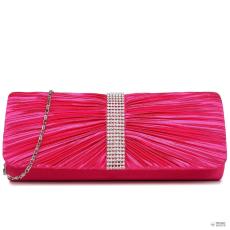 Miss Lulu London LY1683 - Miss Lulu Ruched gyémánt pöttyded estélyi Táska Clutch táska Plum