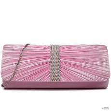 Miss Lulu London LY1683 - Miss Lulu Ruched gyémánt pöttyded estélyi Táska Clutch táska rózsaszín