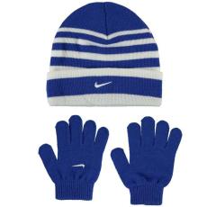 Nike gyerek sapka + kesztyű szett - királykék - Nike Snow Stripe Hat and Gloves Set