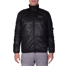 Emporio Armani Felpa férfi kapucnis cipzáras pulóver fekete 3XL