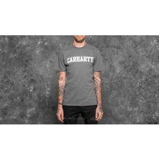 Carhartt WIP Shortsleeve College T-Shirt Dark Grey Heather/ White