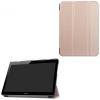 utángyártott Huawei Mediapad T3 10 LTE - Tok álló, bõr (FLIP, oldalra nyíló, TRIFOLD asztali tartó funkció) ROZÉARANY