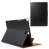 utángyártott Samsung Galaxy Tab A 9.7 LTE (SM-T555) - Tok álló, bõr (FLIP, oldalra nyíló, asztali tartó funkció) FEKETE
