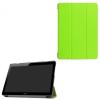 utángyártott Huawei Mediapad T3 10 LTE - Tok álló, bõr (FLIP, oldalra nyíló, TRIFOLD asztali tartó funkció) VILÁGOSZÖLD