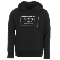 Firetrap Taped férfi kapucnis pulóver fekete XL