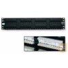 AMP Cat.5E UTP 24 portos patchpanel, 1U, fekete 406330-1