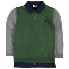 Crafted Mock Shirt pulóver gyerek fiú