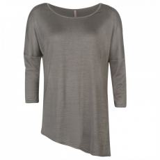 Rock and Rags Shine Asymmetrical Top