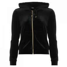 Golddigga Velour cipzáras kapucnis pulóver női