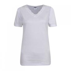 Cote De Moi rövid ujjú hosszú V-nyakú póló