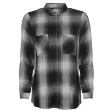 Only női ing - Only Haley Long Sleeve Checked Shirt - fekete