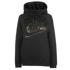 Nike női kapucnis pulóver - Nike Metallic Hoodie - zöld/metalic