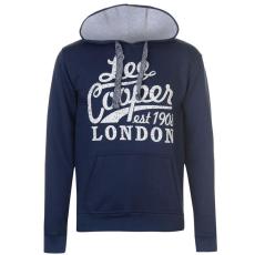 Lee Cooper férfi pulóver - Lee Cooper OTH Logo Sweater Mens Navy