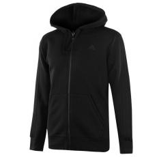 Adidas Essential 3 Stripe férfi kapucnis cipzáras pulóver fekete L