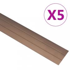 5 db barna alumínium padlóprofil 90 cm építőanyag