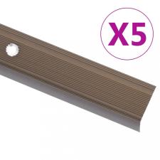 5 db barna L-alakú alumínium lépcsőélvédő 134 cm építőanyag