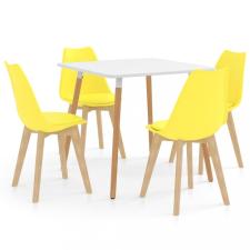 5 részes sárga étkezőszett bútor