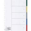 5 Star Regiszter, műanyag, A4, 5 részes, , színes