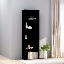 5-szintes fekete forgácslap könyvszekrény 60 x 30 x 189 cm bútor