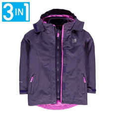 Karrimor gyerek kabát - Karrimor 3in1 Jacket Kids Purple