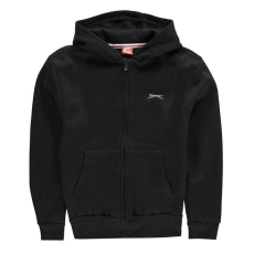 Slazenger gyerek kapucnis cipzáras pulóver - Slazenger Full Zipped Hoody Junior Black