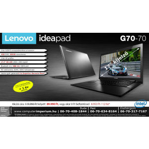 Lenovo IdeaPad G70-70 notebook, laptop (80HW00B7HV), 4GB RAM-mal!!!
