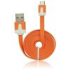 BlueStar Blue Star USB Flat Cable - micro USB narancs