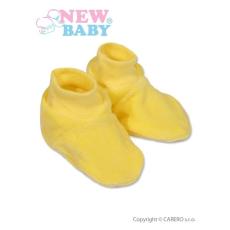 NEW BABY Gyerek cipőcske New Baby sárga | Sárga | 62 (3-6 h)
