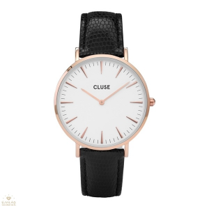 Cluse La Bohème Rose Gold White Black Lizard női óra - CL18037