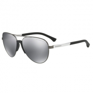 Emporio Armani EA2059 30106G MATTE GUNMETAL LIGHT GREY MIRROR BLACK napszemüveg